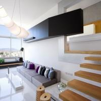Split Level Apartment By M.O.B Interior Architects