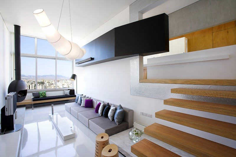 Split Level Apartment By M.O.B Interior Architects