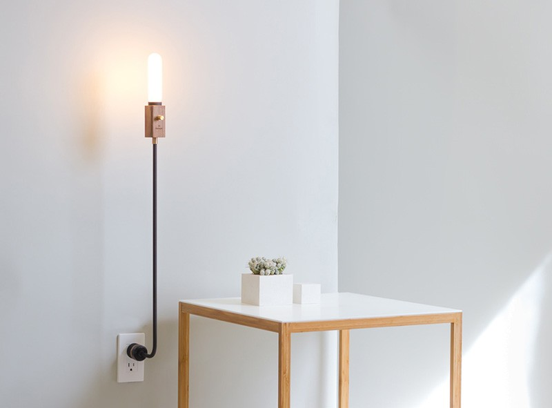 Wall Lamps With Outlets : Wald Plug Lamp by Feltmark CONTEMPORIST