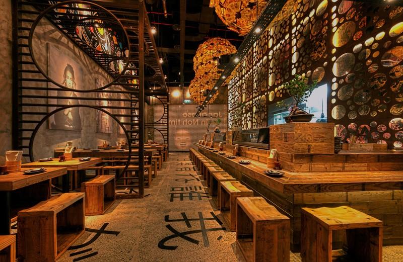 طراحی رستوران سنتی ژاپنی در دبی آرل