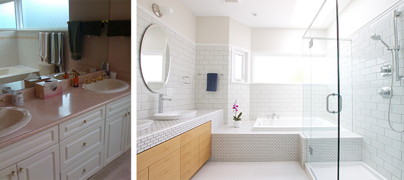Before after a sweet little bathroom renovation - Remodelacion de banos ...
