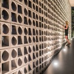 Design Detail – A Wall Of Concrete Blocks With Geometric Shapes