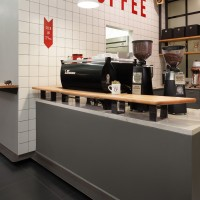Before & After - From Boring Dated Retail Space To Modern Coffee Shop