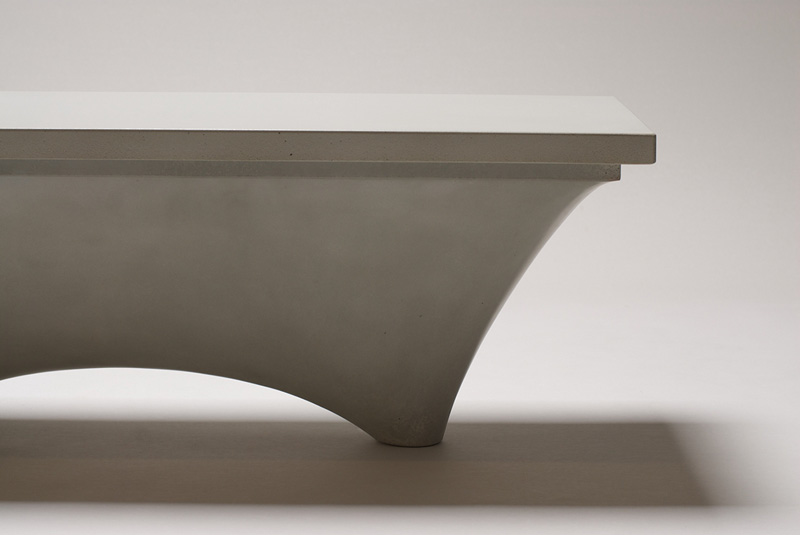 Planer Concrete Bench by Brandon Gore