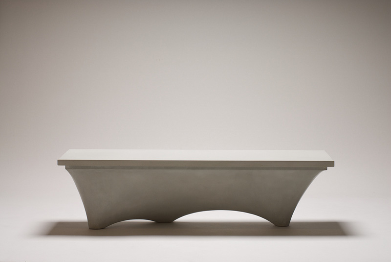 Planer Concrete Bench by Brandon Gore