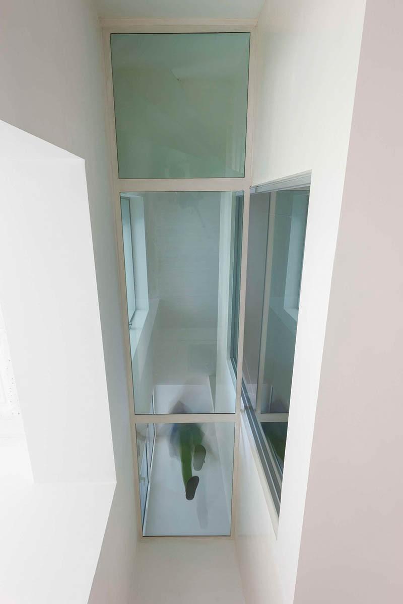 See-through hallway floor
