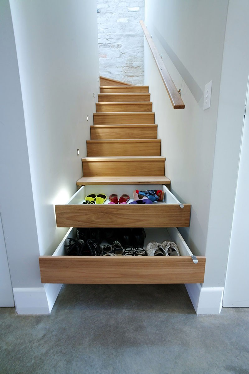 Storage In The Stairs