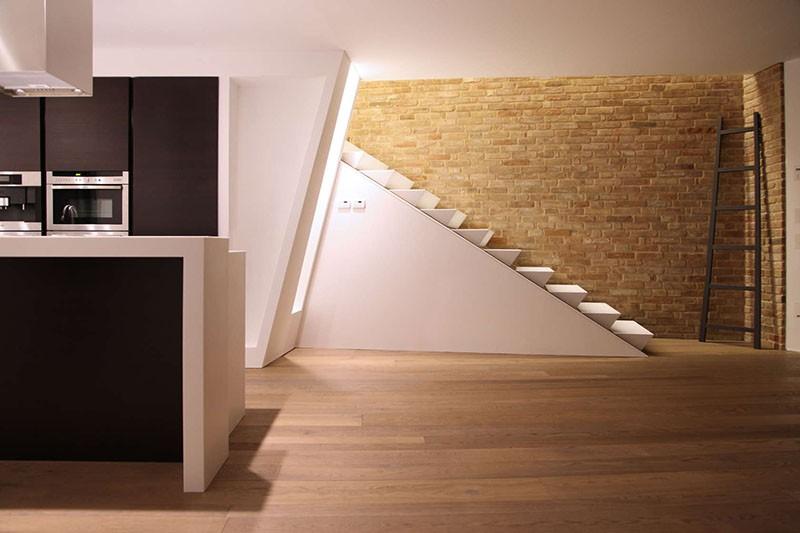 طراحی راه پله،راه پله، کرین،corian،متریال کرین،متریال corian