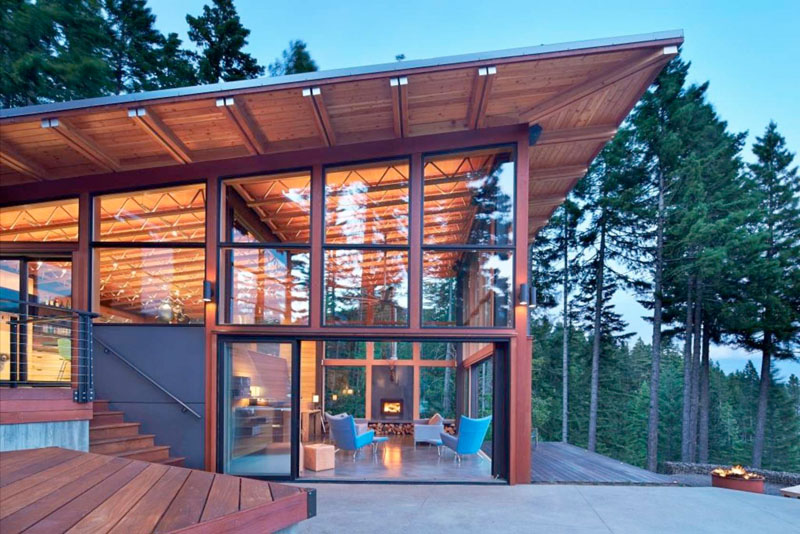 A pacific northwest home for a family of seven contemporist for Architects nw