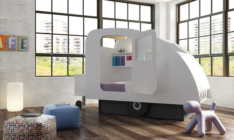 Caravan and Tent by Mathy By Bols & Bringing The Camping World Indoors For The Kids | CONTEMPORIST