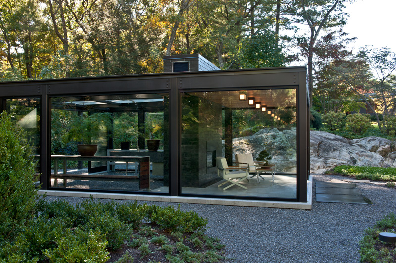 Contemporary glass greenhouse 190515 03 contemporist for Small glass house plans