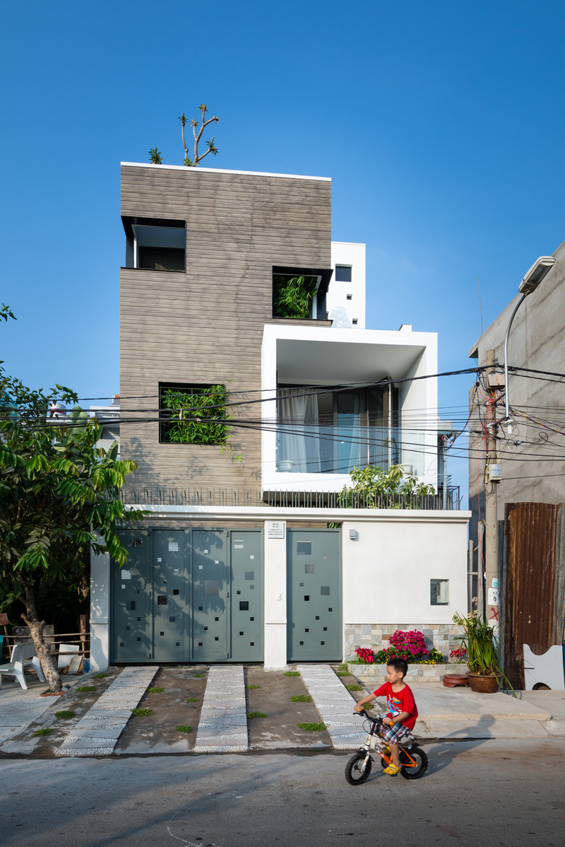 A family house on a small lot in vietnam contemporist Building on a lot