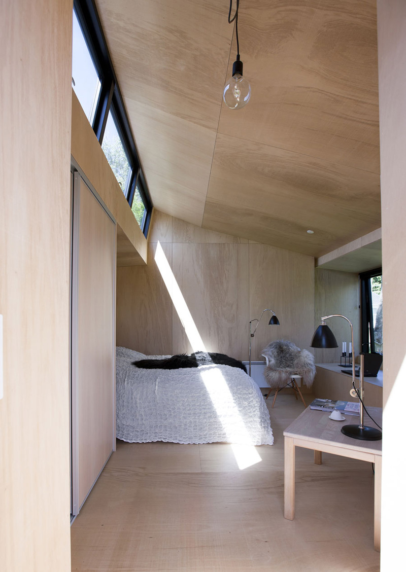 this backyard guest house provides extra space for visitors