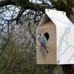 A Milk Carton Inspired Birdhouse Made From Recycled Materials