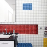 A Mondrian Inspired Bathroom By Alloy Workshop