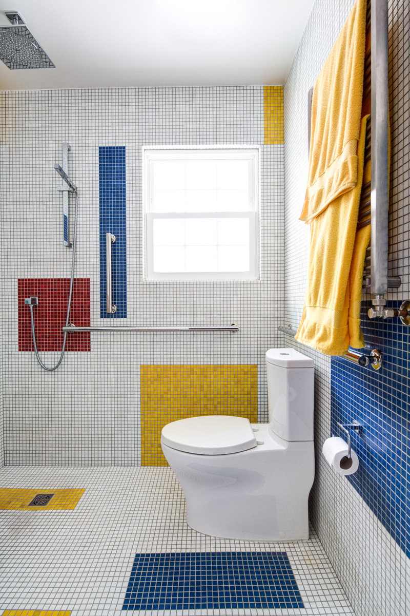 A Mondrian Inspired Bathroom By Alloy