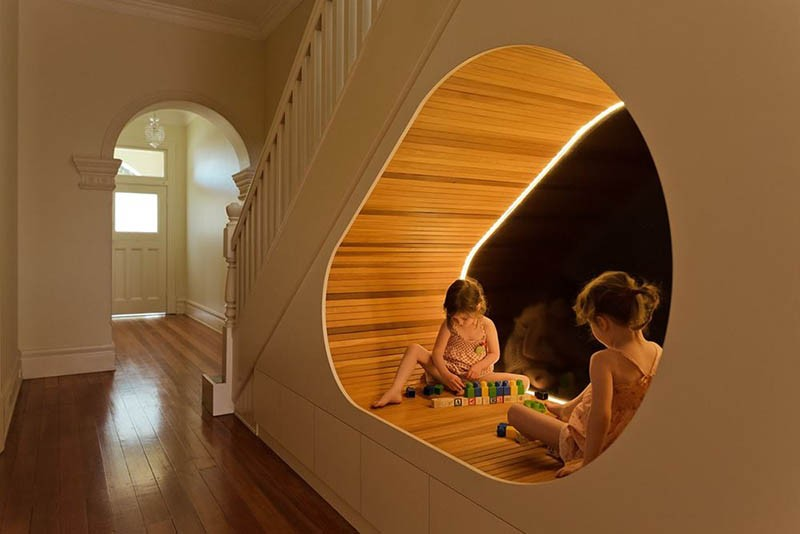 Play space under the stairs