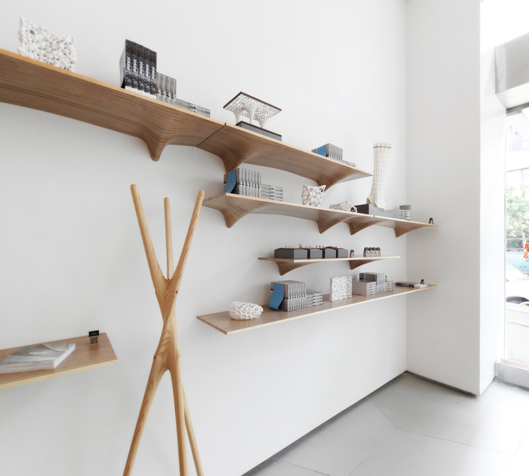 Organically Shaped Plywood Shelves By Matter Design