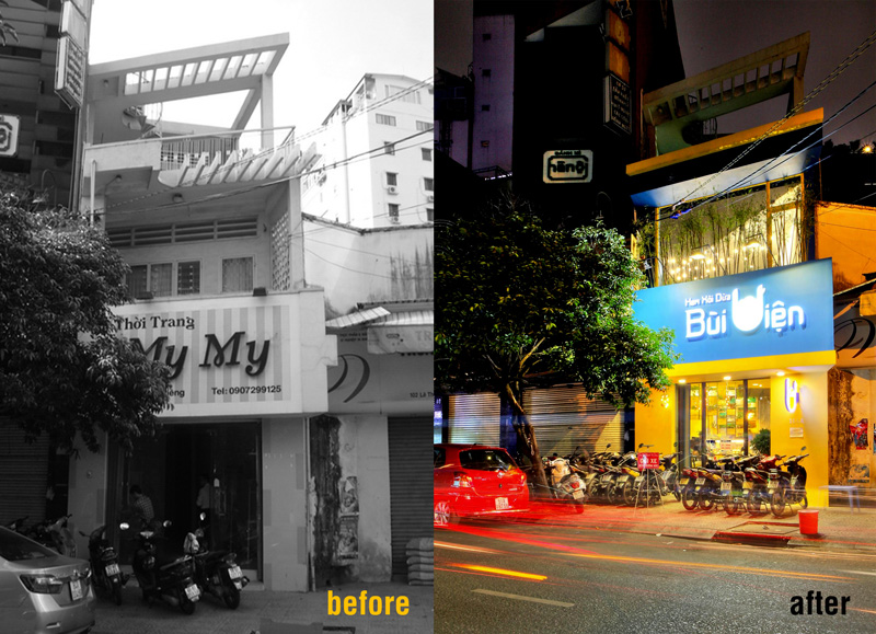 Before & After - An Ice Cream Shop In Ho Chi Minh City