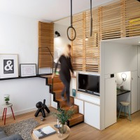 concrete Designs Compact Loft With Hidden Features For New Hotel Brand Zoku