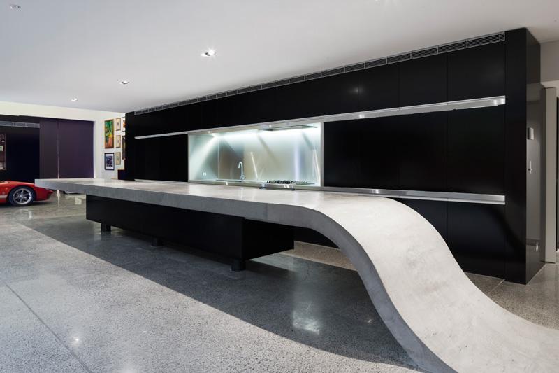 Design Detail: Concrete Kitchen Countertop By Corben Architects