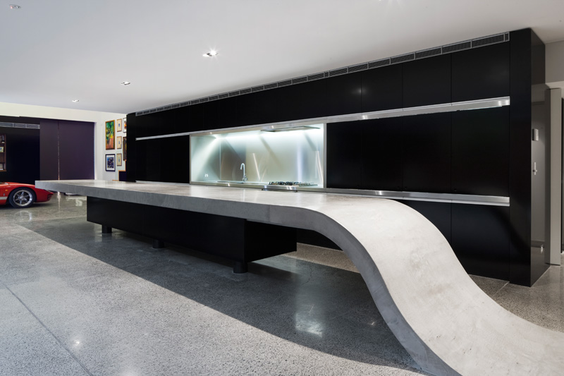 Design Detail – A Concrete Countertop That Connects To The Floor