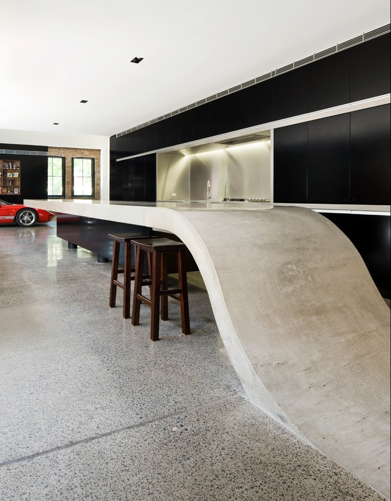 Design Detail: Concrete Kitchen Countertop By Corben Architects