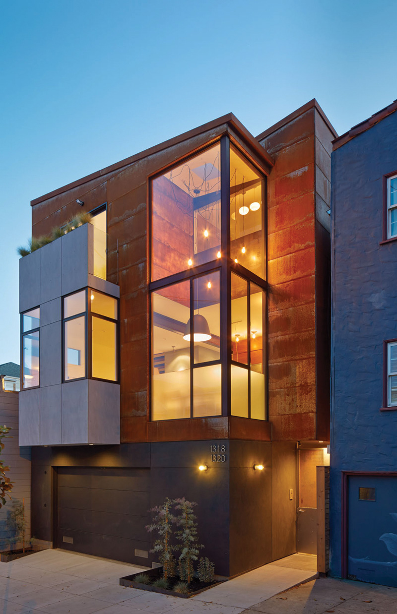 Modern Architecture San Francisco two homeszack | de vito architecture share a single lot in san
