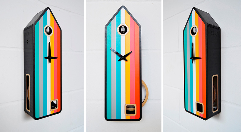 """Color-House"" Is A Contemporary Cuckoo Clock By Pedro Mealha"