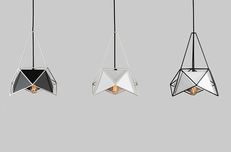 SHIFT Designs Pendant Lamps Surrounded By A Cage Of Geometric Shapes