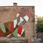 Stefaan De Croock Creates Mural In Belgium From Discarded Wood