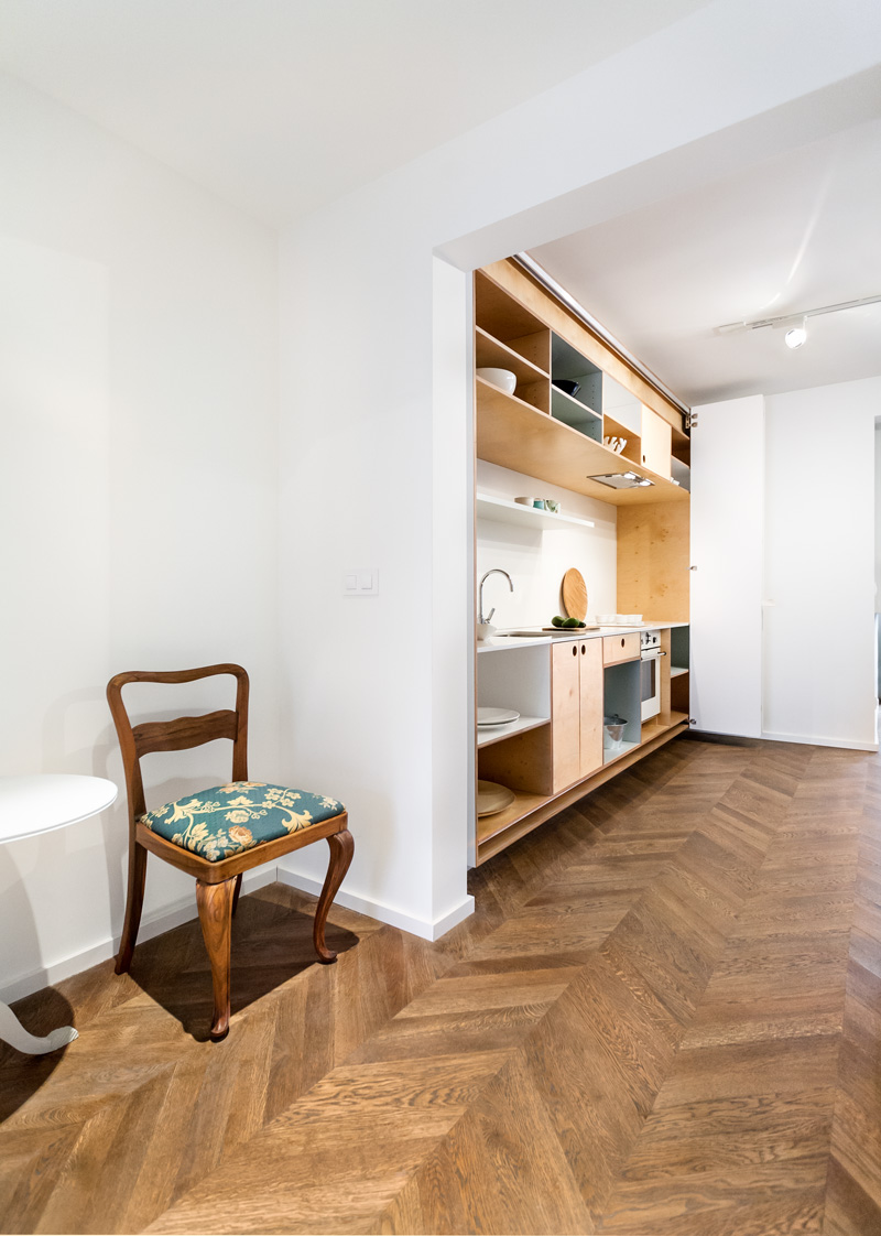 Hidden Kitchen This Apartment Has A Hidden Kitchen Contemporist