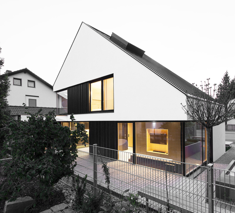 A House Designed For A Small Plot On The Outskirts Of Munich