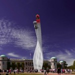 Gerry Judah Creates A Twisted Steel Beam Sculpture For Mazda At The Goodwood Festival Of Speed