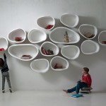imperfettolab Design Organically Shaped Modular Wall Shelves