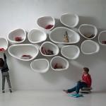 imperfettolab Design Organically Shaped Modular Wall Shelves