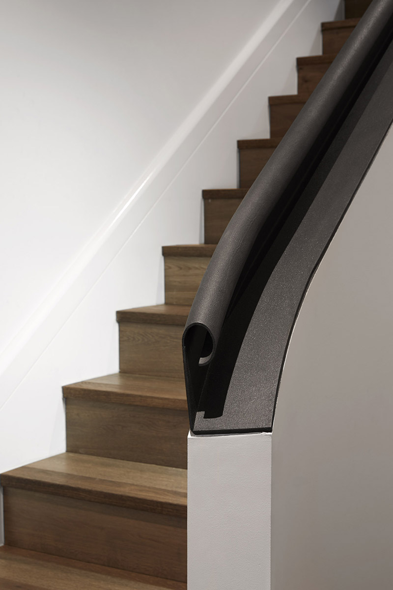 Curved Architecture Design Detail A Curved Steel Handrail Contemporist