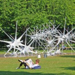 "Nonscale Complete The ""Sky Pavilion"" Sculpture In London Park"