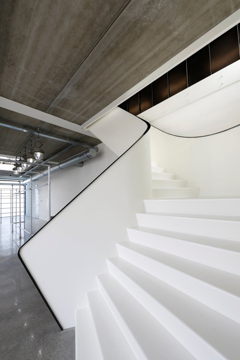 Contemporary White Stairs
