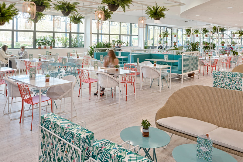 Kiwi & Pom Design A Garden Themed Restaurant | CONTEMPORIST