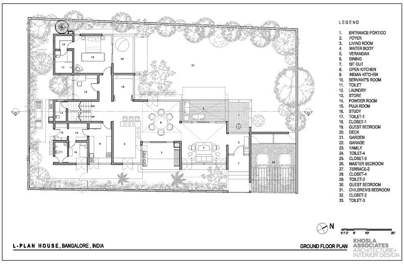 L Plan House By Khosla Associates. «