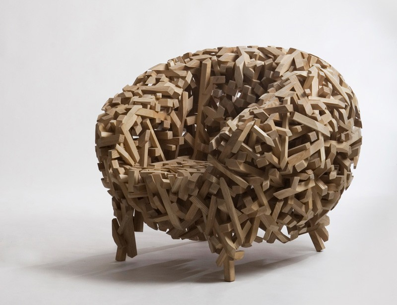 The Crossed Stick Chair By Samwoong Lee