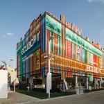 Ecuador Pavilion Covered In Colorful Anodised Aluminium Curtains