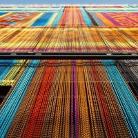 KriskaDECOR Covers Pavilion In Bright Aluminium Curtains