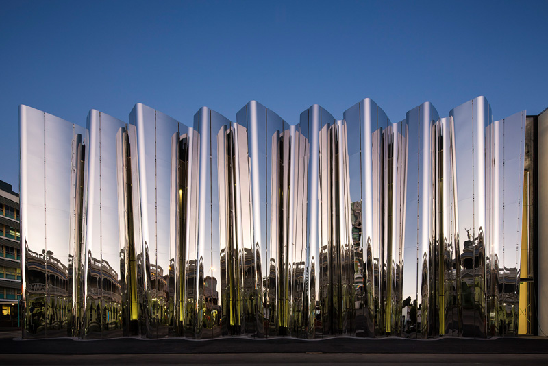 Reflection paper architecture facade