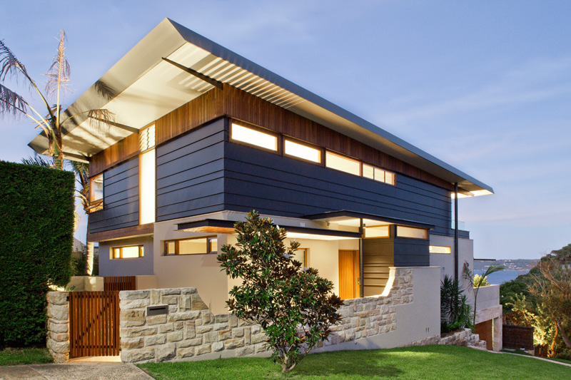 Richard Cole Architecture Design A House Overlooking Sydney Harbor on oklahoma houses designs, white house building designs, single story house designs,