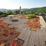 Design Detail – A Rooftop Deck Surrounded By A Moss Garden