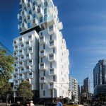 Jackson Clements Burrows Design An Apartment Building With Projecting White Steel Balcony Cubes