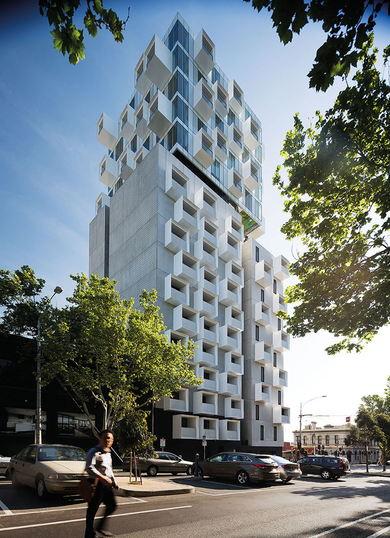Jackson clements burrows design an apartment building with for Architecture firms in australia