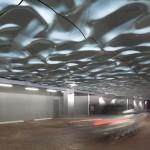 Paul Raff Studio Add Water-Like Sculpture To Ceiling Of Parking Area